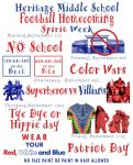 Heritage Middle School Football Homecoming Spirit Week