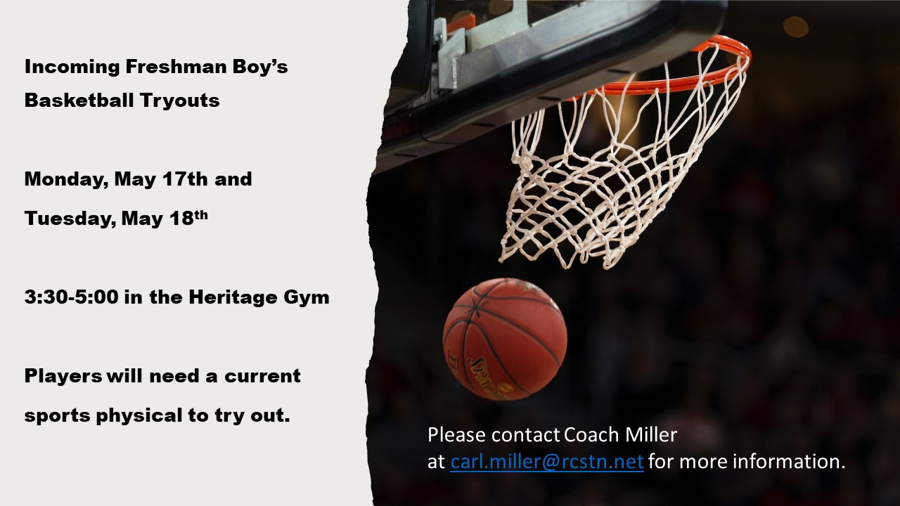 HS Boys Basketball: Incoming Freshman tryout information
