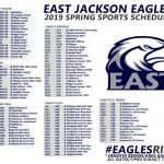 Come Out Eagles Fans!  Support Your Athletes! Spring schedule 2019