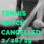 tennis canceled