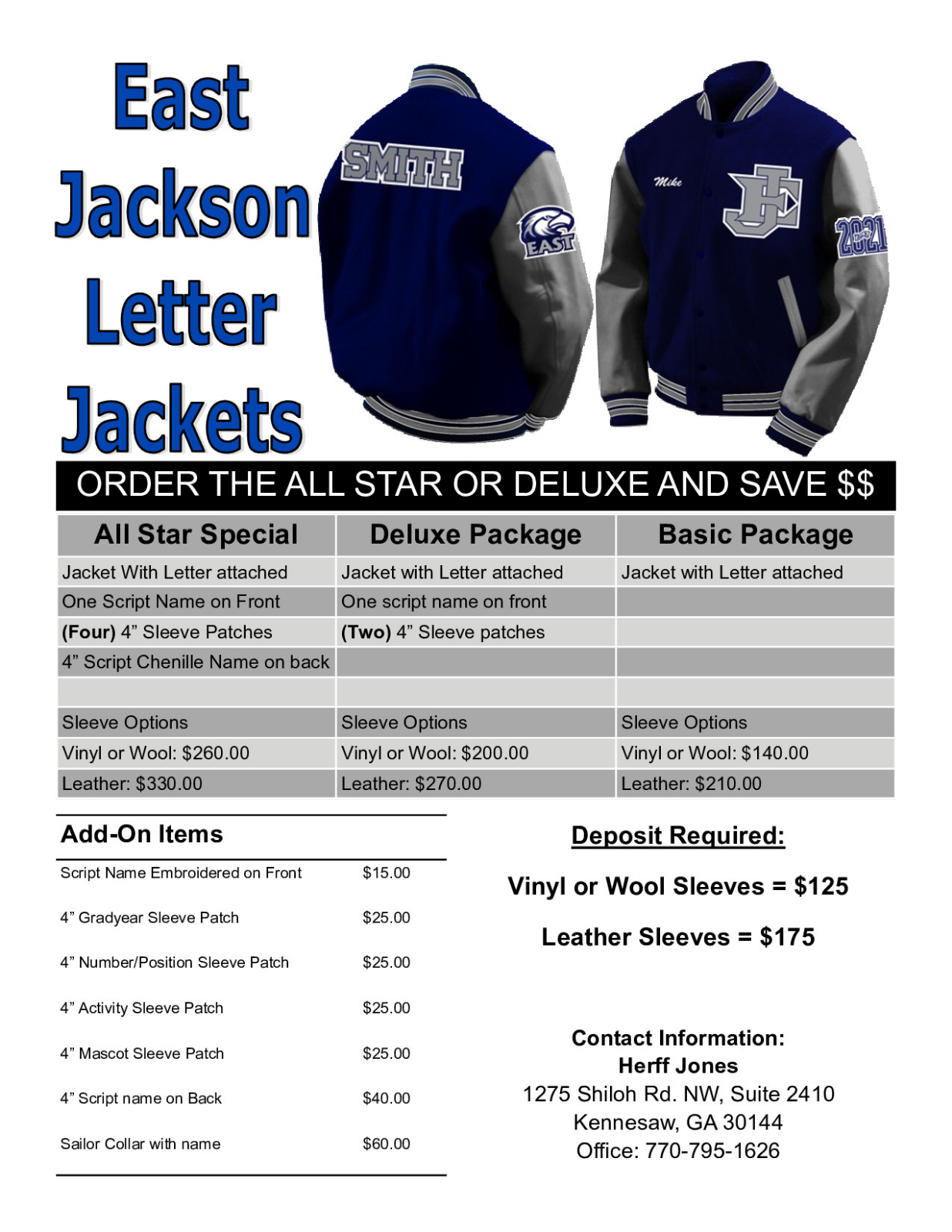 Herff Jones Letterman Jacket Rep 8/21