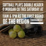 1st round Softball Region Play