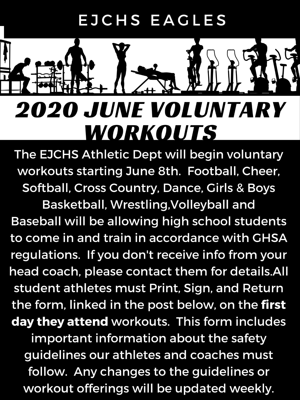 Voluntary Summer workouts flyer