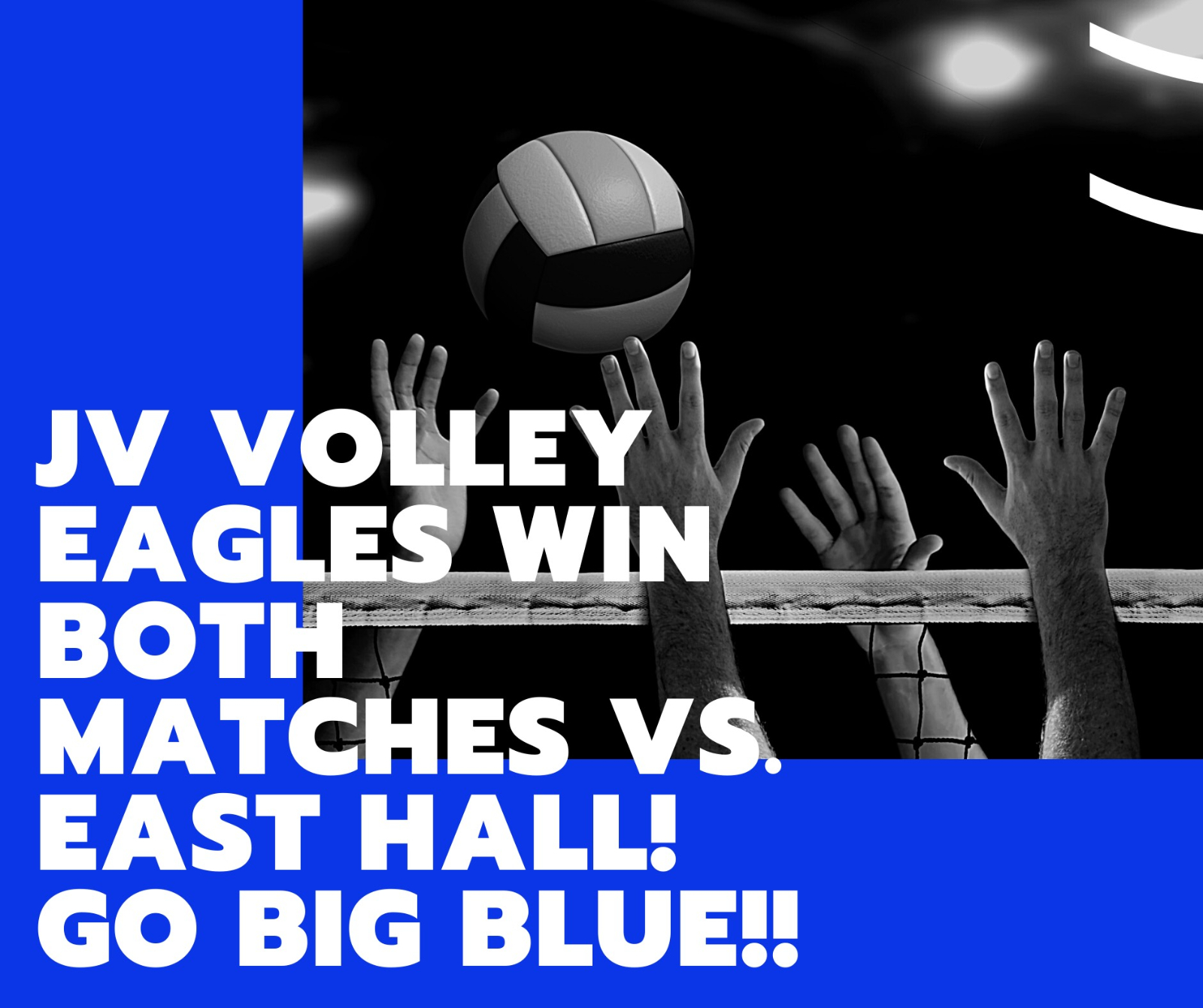 JV Volley Eagles Win Both Matches