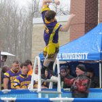 Football players take the Polar Plunge