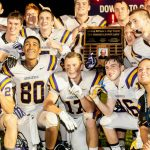 Guerin Catholic Football wins Bishops Trophy over LCC 17-7