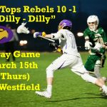 Just in time for St. Patrick's Day – March 15 – GC vs Westfield