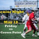 May 18th – Senior Night – Friday – End of the season game