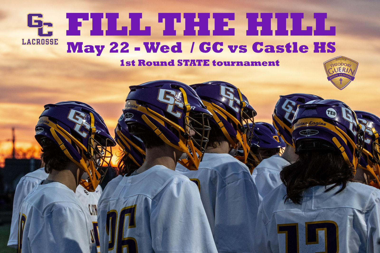 Game Day – #5 Guerin Catholic vs #12 Castle HS – May 22nd at 7:30 pm