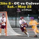 Elite 8 – GC travels to Culver Military Academy May 25 at 2:00 pm
