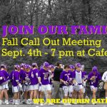 Fall Call Out Meeting – GC Boys Lacrosse on Sept 4th – 7 pm