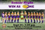 Senior Night – GC Girl's Soccer this Thursday – 9/24