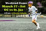 Weekend Home Game – Sat. – GC vs St. Joe