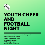 Youth Football/Cheer Night this Friday!