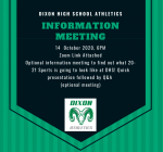 Athletics Parent Information Meeting, Wed. October 14th
