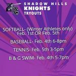 Spring Sport Tryouts