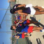 Girls Varsity Tennis wins on games tie breaker.
