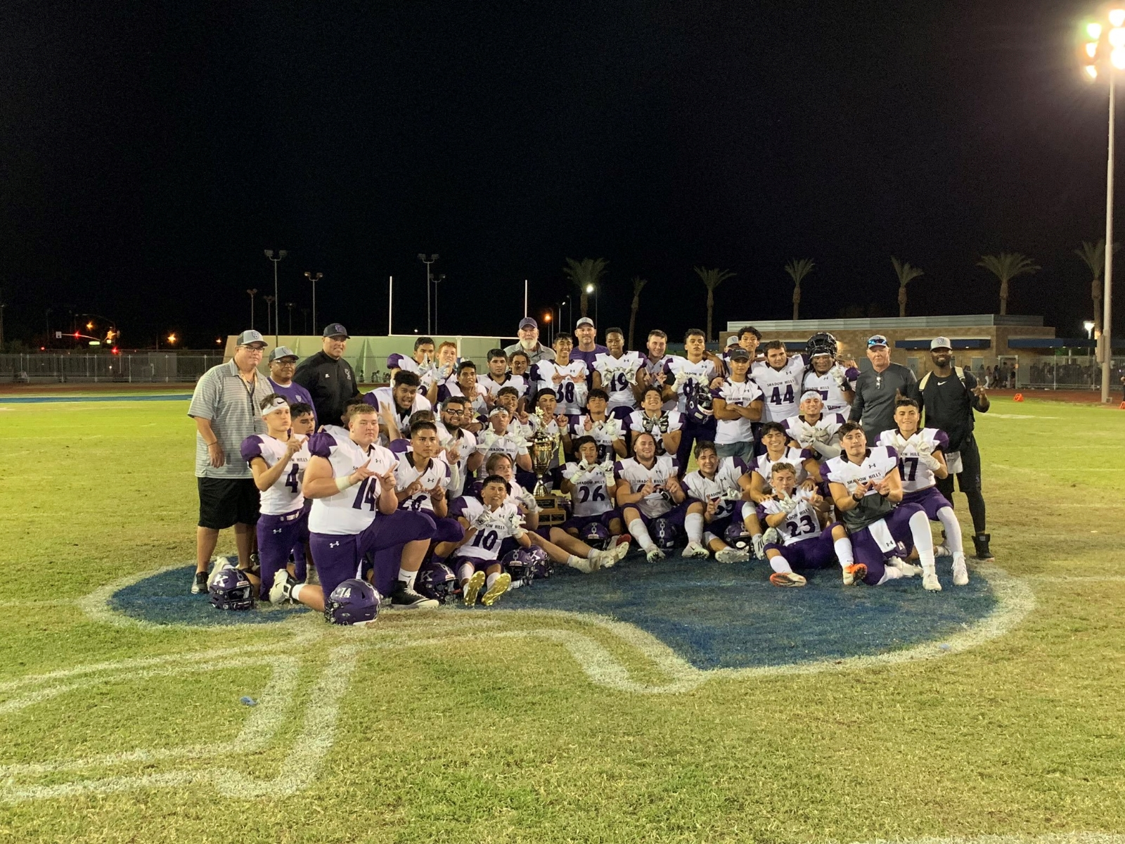 The Knights were triumphant against the Rajahs, beating them 49-0 and Winning the Mayor's Cup yet again!