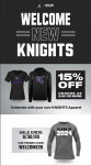 Attention Knights Nation , here is our Sideline Store's monthly promotion for the month of September!