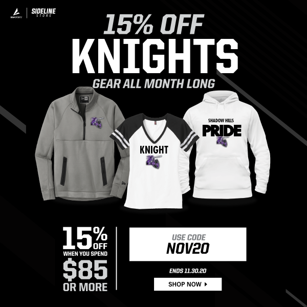 Attention Knights Nation, here is your Sideline Store's monthly promotion for the month of November!