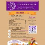 Thanksgiving pie & cookie dough fundraiser through our friends at TKB!