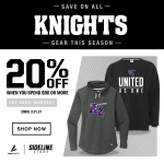 Attention Knights Nation, here is our Sideline Store's March Promotion!
