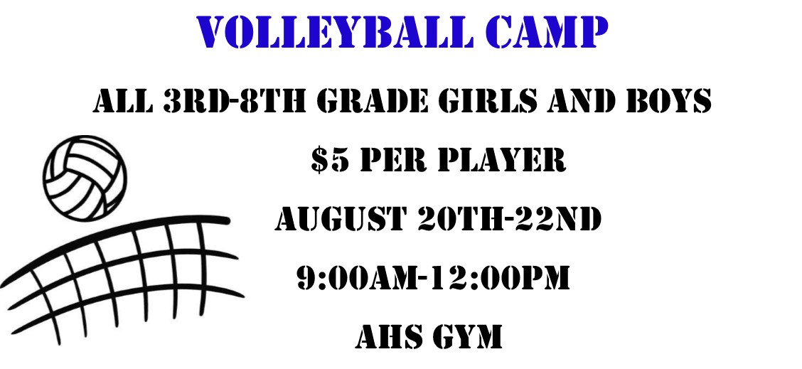 Volleyball Camp Aug. 20-22