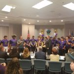 City Hall Officially Presents Mayor's Cup To Football Team