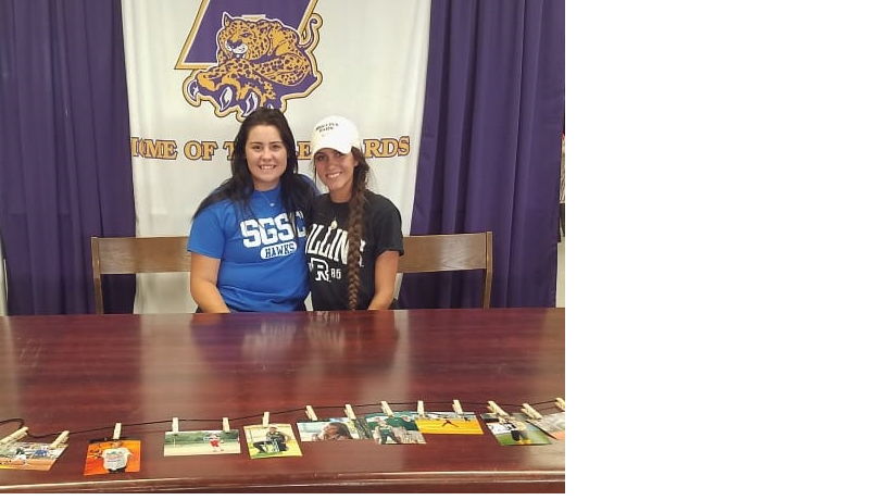 Lamp and Shenefield Sign Softball Scholarships