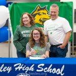 Laney Hoehnke signs National Letter of Intent to play soccer at Wright State!