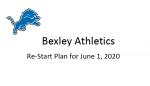 Bexley Covid-19 Summer Training Guidlines