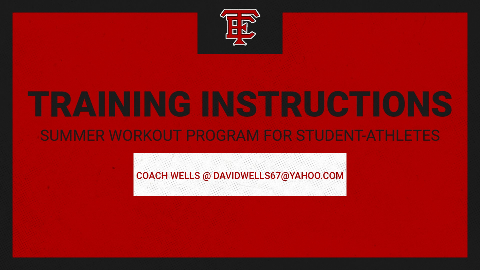 Summer Workout Program – Lifting/Conditioning