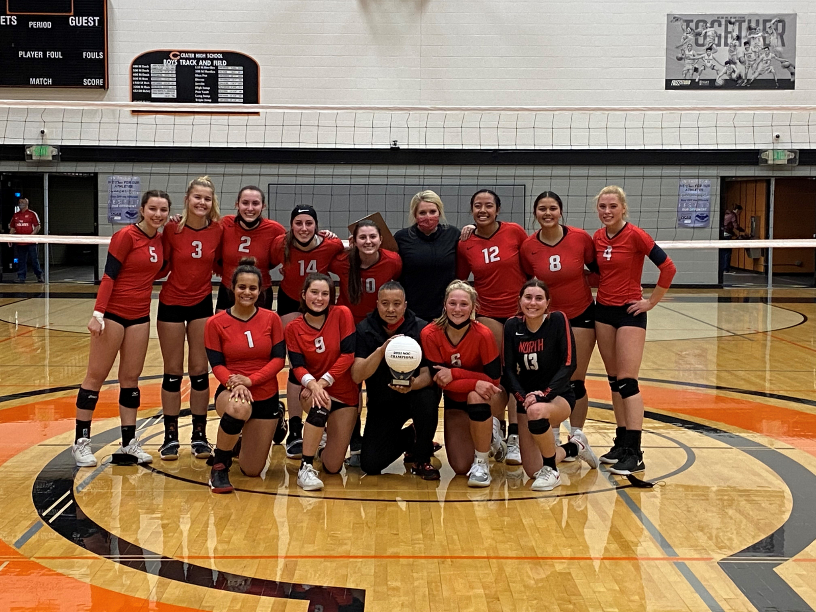 Girls Volleyball are Southern Oregon Conference Champions