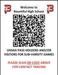 UHSAA Pass and Sub-Varsity Check In