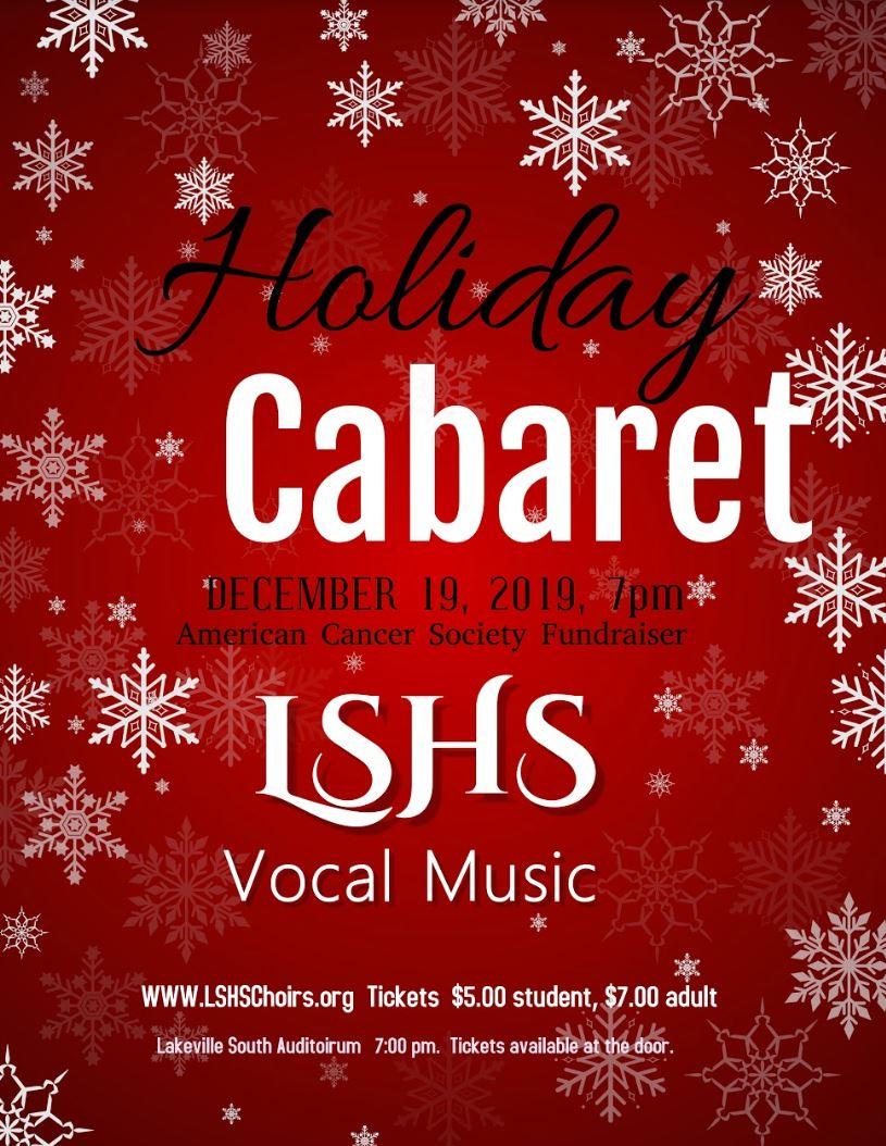 HOLIDAY CABARET – December 19th