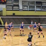 Girls 7th Grade Volleyball beats Mitchell 2 – 1