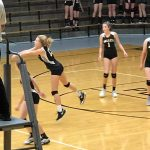 Girls 8th Grade Volleyball beats Shoals  2 – 0