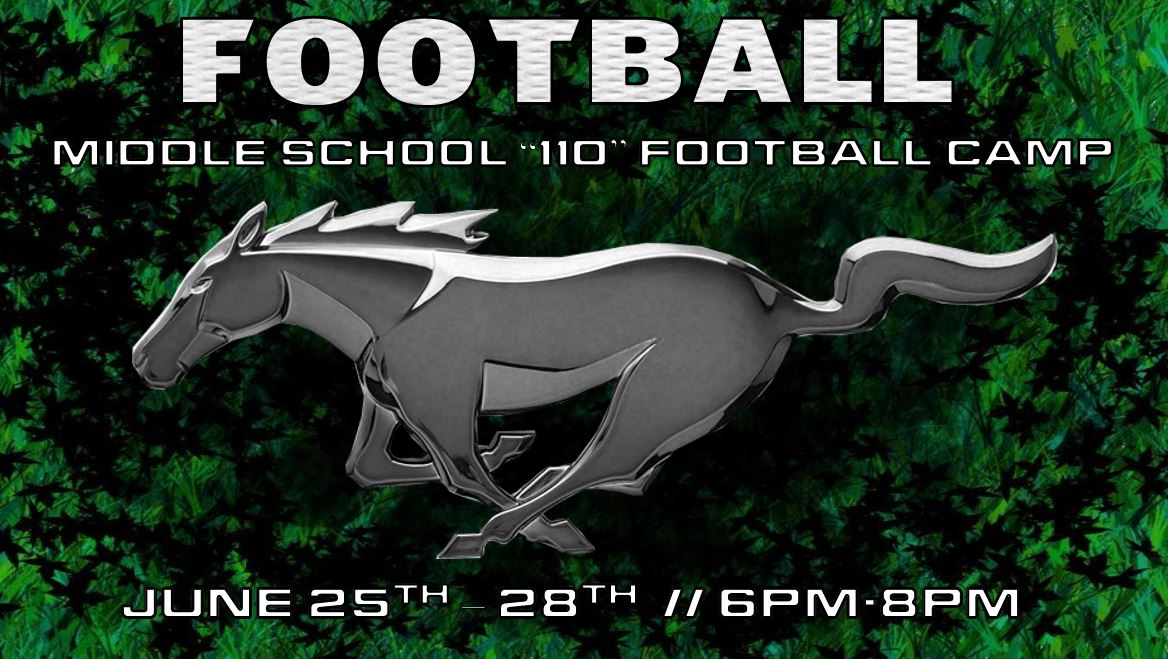 Football Middle School Camp: 6th-8th Grade