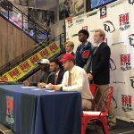 KMHS player participates in football early signing event