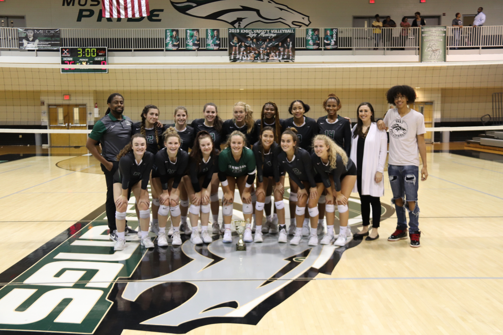 Lady Mustang Varsity Volleyball Team wins Regional Title!