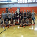 Santa Claus Visits Girls Basketball Practice