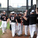 Green High School (Uniontown) Varsity Baseball beat Perry HS (Massillon) 7-2