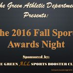 GHS Fall Sports Awards Night: November 22nd, 2016 @ 7pm