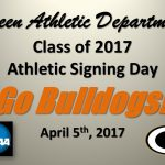 Athletic Signing: 4 Bulldogs to Represent Green at Collegiate Level