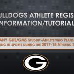Athlete Registration Information for 2017-18