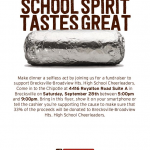Fall Cheer Chipotle Fundraiser