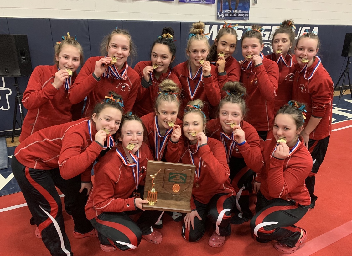 Good Luck to the Bees Gymnastics Team at States