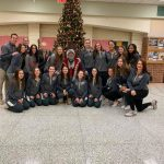 Girls Varisty Basketball Team With Santa!