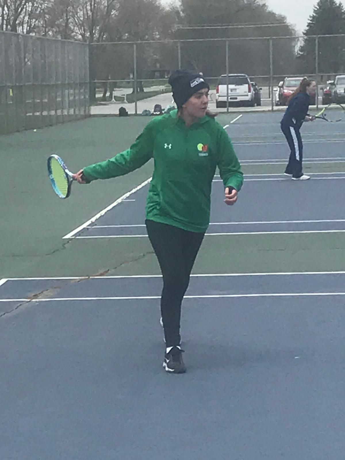 Girls Tennis at New Prairie.  Championship winners!