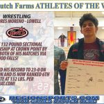 Andres Moreno – Regions Sports Dutch Farms Wrestler of the Week